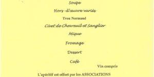 Repas des «Chasseurs d'Espérier & de Lasserre»