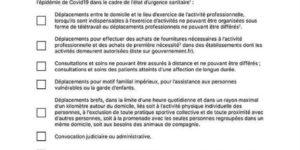 ATTESTATION DE DÉPLACEMENT DÉROGATOIRE 2