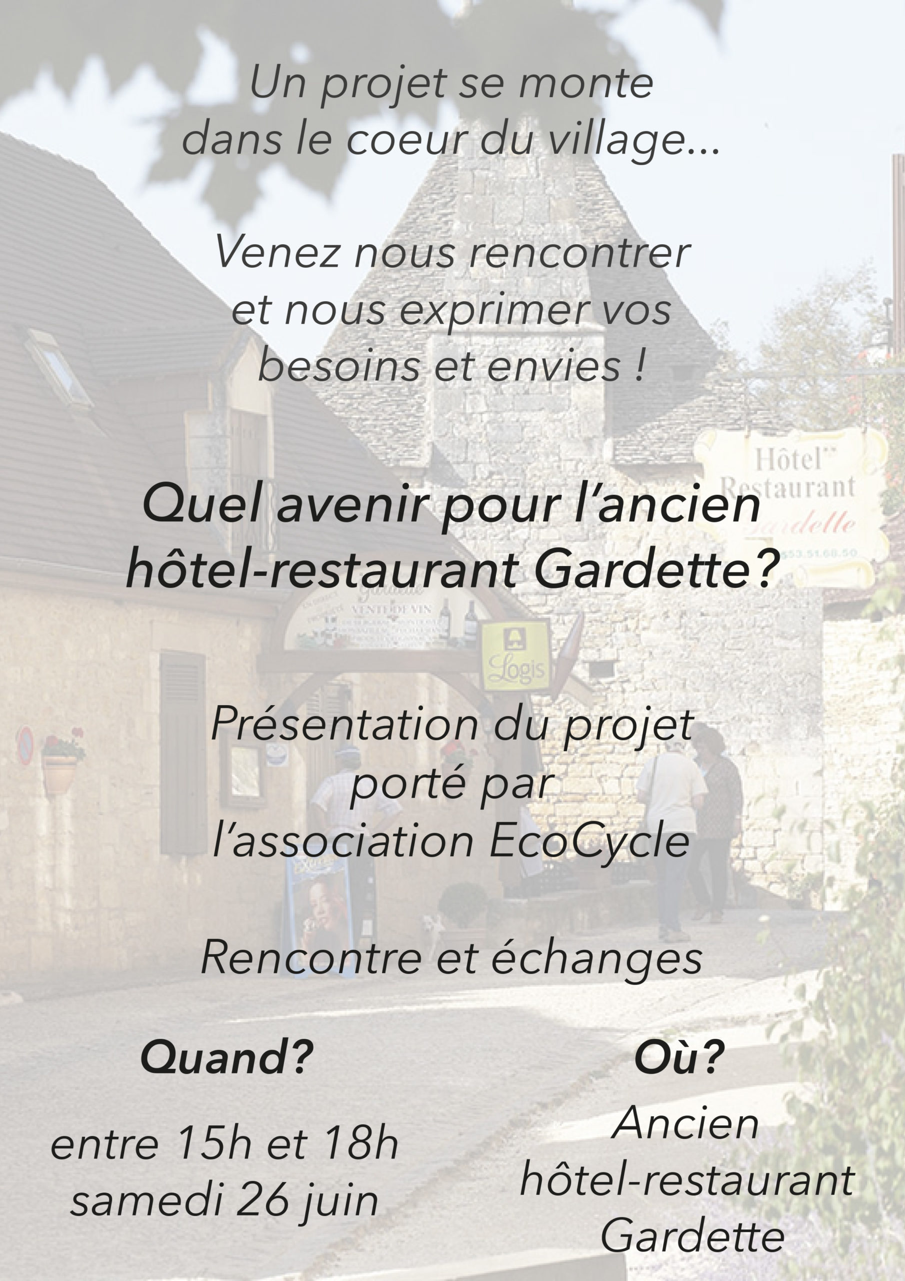 Hotel restaurant La Gardette