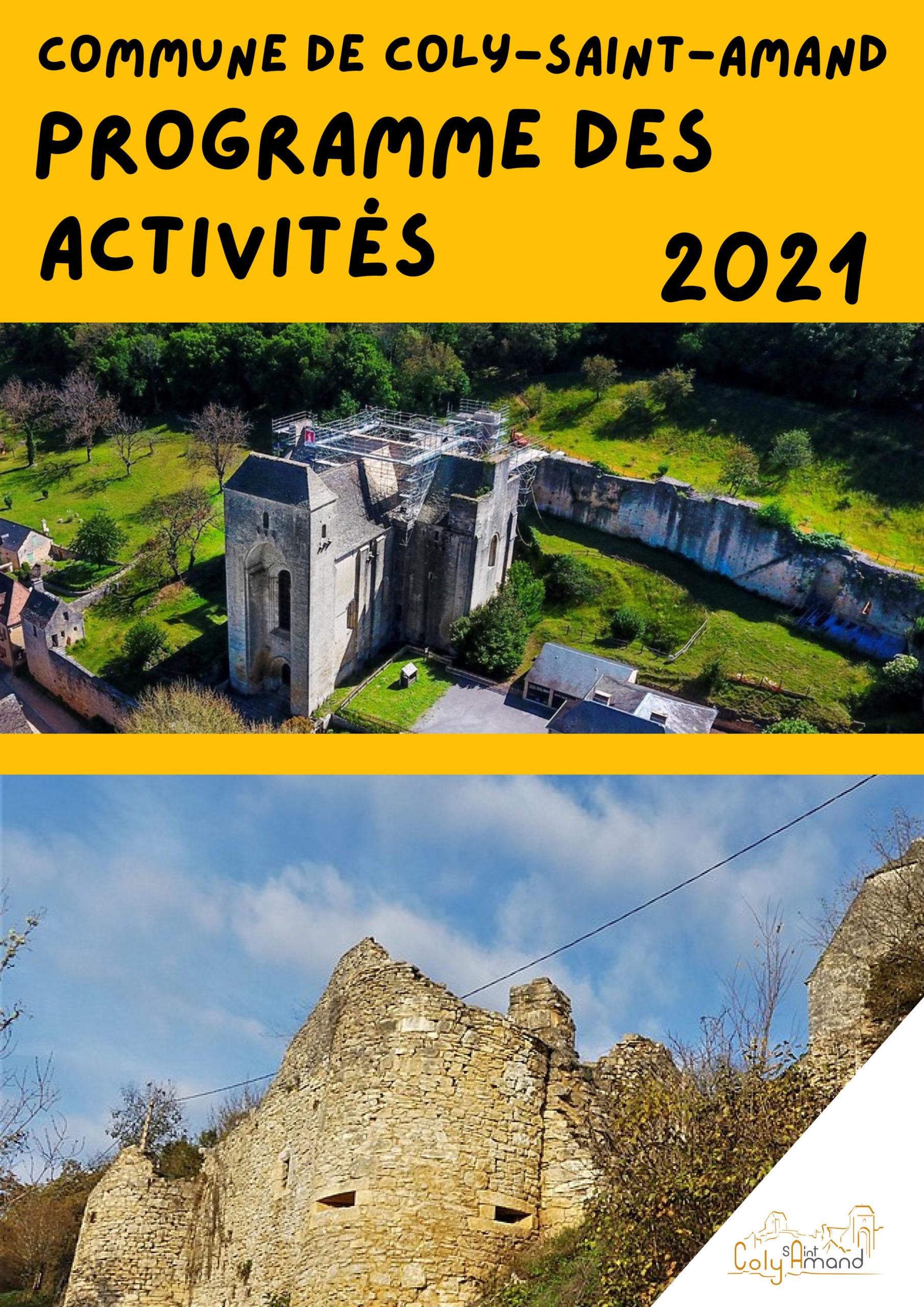 Programme des ACTIVITÉS commune de Coly-Saint-Amand 2021